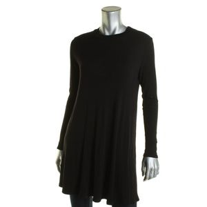 NWT Aqua Black Long Sleeve Mini Swing Casual Dress